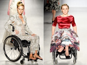 FTL MODA made a bold statement at New York Fashion Week, hiring disabled models for the runway show on Sunday, Feb. 15, 2015. Photo Credits Getty Photos